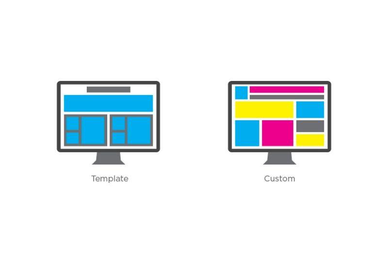 Templates ιστοσελίδων ή custom σχεδιασμός