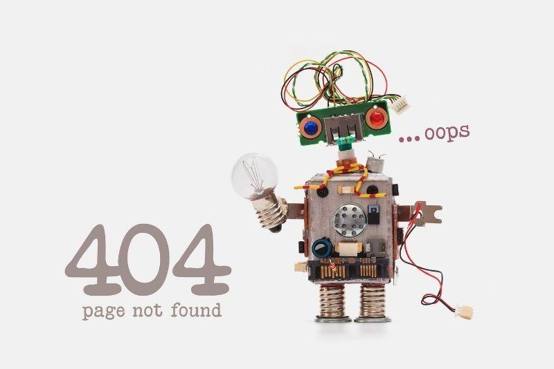 δημιουργική σελίδα 404